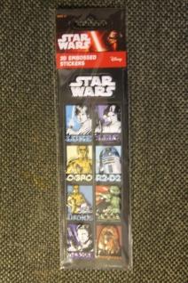 Star Wars-Sticker; 3D-Sticker; 3-D Embossed Stickers; Star Wars - Aufkleber