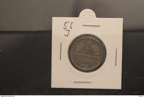 Bundesrepublik Deutschland, Kursmünze 1 Deutsche Mark, 1955 J, Jäger-Nr. 385, vz +