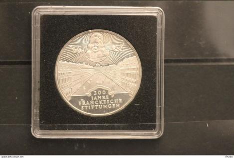 Bundesrepublik Deutschland; 10 Deutsche Mark; 1998; Franckesche Stiftungen, Silber; stg; Jäger-Nr. 470