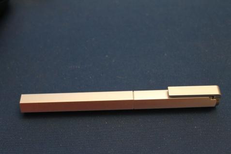 6-kant Füllfederhalter; M- Feder; Patronen - Füller, Aluminium
