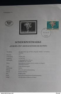 EUROPA - CEPT 1993; 16.4.1993; Legende, Erläuterungsblatt
