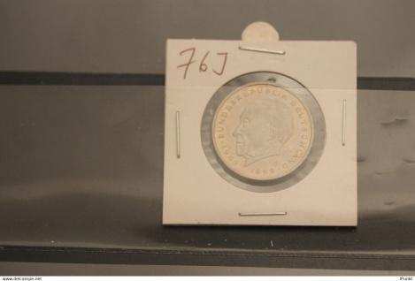 Bundesrepublik Deutschland, Kursmünze: 2 Deutsche Mark; Konrad Adenauer; 1976 J, Jäger-Nr. 406, stg