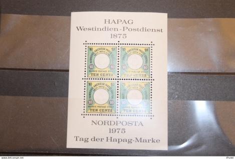 Deutschland, Vignette zur NORDPOSTA 1975; Tag der Hapag-Marke