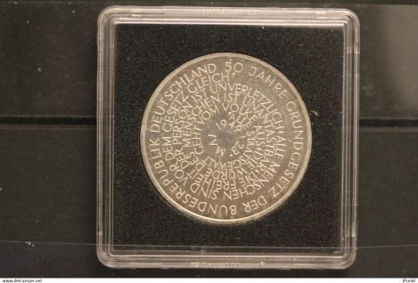 Bundesrepublik Deutschland; 10 Deutsche Mark; 1999; Grundgesetz, Silber; stg; Jäger-Nr. 471