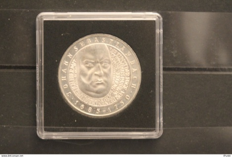Bundesrepublik Deutschland; 10 Deutsche Mark; 2000; Johann Sebastian Bach, Silber; stg; Jäger-Nr. 446
