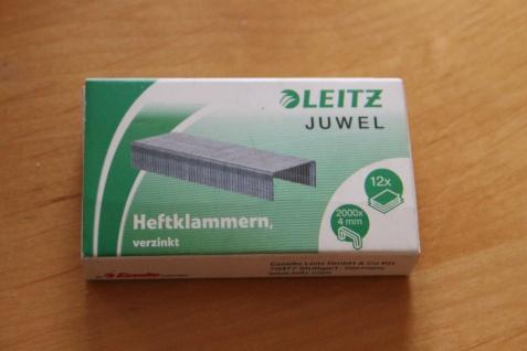 Heftklammern Leitz Juwel, 4mm; 1000 Stück