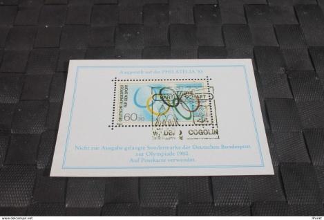Vignette der Olympia-Marke Deutschland zur Olympiade Moskau 1980 (Boykott-Marke)