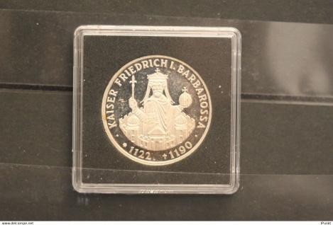 Bundesrepublik Deutschland; 10 Deutsche Mark; 1990; Kaiser Friedrich I. Barbarossa, Silber; PP; Jäger-Nr. 449