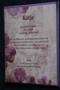 Katja, Namenskarte Katja, Geburtstagskarte Katja, Namen Katja