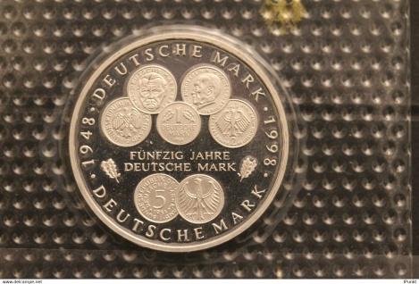 Bundesrepublik Deutschland; 10 Deutsche Mark; 1998; 50 Jahre Deutsche Mark, Silber; PP; Münzstätte J, Jäger-Nr. 469