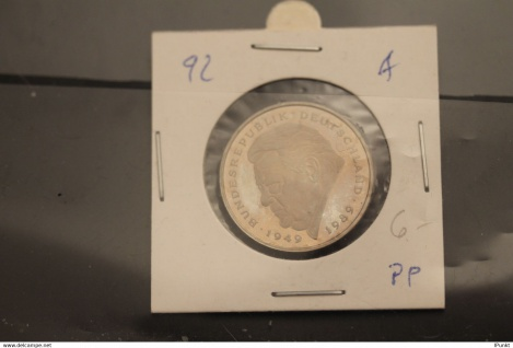 Bundesrepublik Deutschland, Kursmünze: 2 Deutsche Mark; Franz J. Strauß; 1992 A, Jäger-Nr. 450, PP