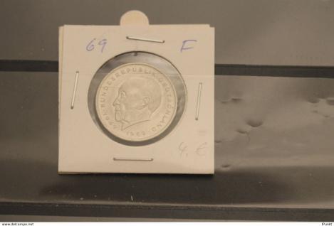 Bundesrepublik Deutschland, Kursmünze: 2 Deutsche Mark; Konrad Adenauer; 1969 F, Jäger-Nr. 406, stg