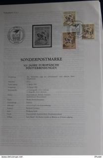 Europäische Postverbindungen; 12.1.1990; Legende, Erläuterungsblatt
