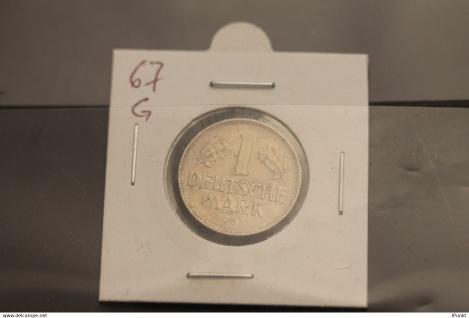 Bundesrepublik Deutschland, Kursmünze 1 Deutsche Mark, 1967 G, Jäger-Nr. 385, ss-vz