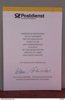 "Ministerkarte zum Ausgabeanlaß: "" 100 Jahre VDE"", 14. Jan. 1993 ; MiNr. 1648"