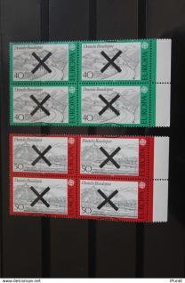 Deutschland BRD EUROPA-Marken 1977 mit Andreaskreuz; Viererblock (mit rechtem Seitenrand)