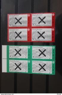 Deutschland BRD EUROPA-Marken 1977 mit Andreaskreuz; Viererblock (teils mit Rand)