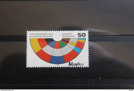 Deutschland BRD Direktwahl Europa-Parlament 1979 mit Musterstempel; Muster-Marke
