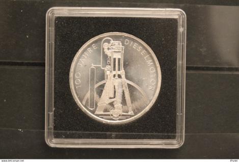 Bundesrepublik Deutschland; 10 Deutsche Mark; 1997; Dieselmotor, Silber; stg; Jäger-Nr. 471