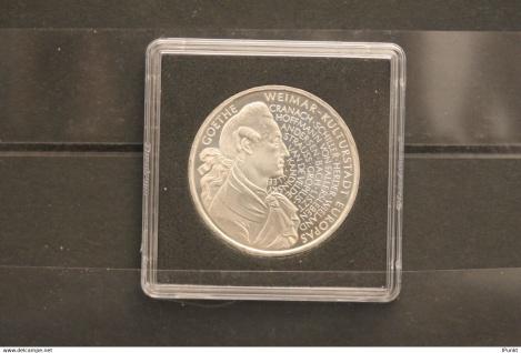 Bundesrepublik Deutschland; 10 Deutsche Mark; 1999; Goethe, Weimar, Silber; stg; Jäger-Nr. 473