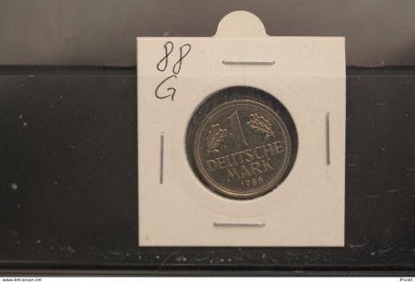 Bundesrepublik Deutschland, Kursmünze 1 Deutsche Mark, 1988 G, Jäger-Nr. 385, vz +