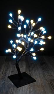 Deko LED Baum mit 48 Kugeln 45cm inkl. Außenbereich Adapter u. Timer