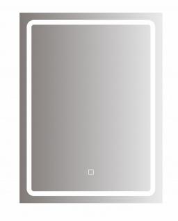 bhp Spiegel mit LED Beleuchtung rechteckig, 5mm, 60x80cm 220-240V, 3000/6500K