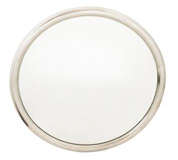 bhp Spiegel, Metallrahmen, silber, rund
