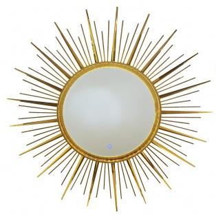 bhp LED Spiegel, Metallrahmen, 2 Lichtstufen, vertikal und horzontal hängbar