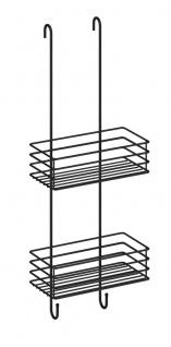 Smedbo Design Duschkorb doppelt schwarz BB1210