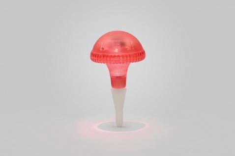 KONSTSMIDE Assisi Pilz Solar LED Leuchte rot