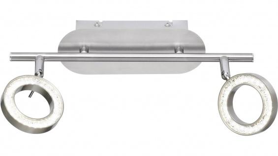Wofi LED Deckenstrahler NAOMI nickel matt, chrom 2 flg.