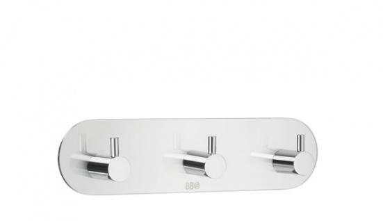 Smedbo Design 3-Fach Hakenleiste Edelstahl poliert BK1103
