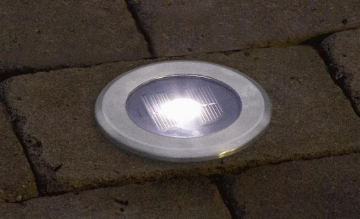 KONSTSMIDE Solar LED Bodeneinbauleuchte Edelstahl rund