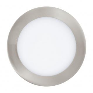 EGLO FUEVA 1 LED Einbauleuchte Ø170, 1-flg., nickel-matt