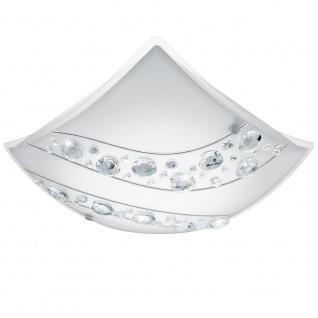 EGLO NERINI LED Kristall Wand & Deckenleuchte 340x340, 1-flg., weiss, schwarz, klar