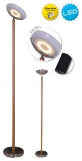 LED Deckenfluter Holz Look braun Näve Matilda 2700lm mit Fußtrittschalter