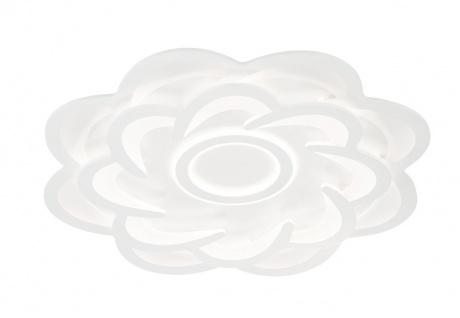 WOFI Ica 987 LED Deckenleuchte weiß 4300lm mit Fernbedienung 80x80x8cm
