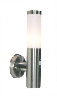 Deko Light Nova II Wandleuchte außen silber, weiß IP44 1 flg. E27 Modern Bewegungsmelder