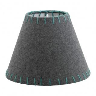 EGLO 1+1 VINTAGE Filzschirm, Ø205, grau, grün, Textil, E14