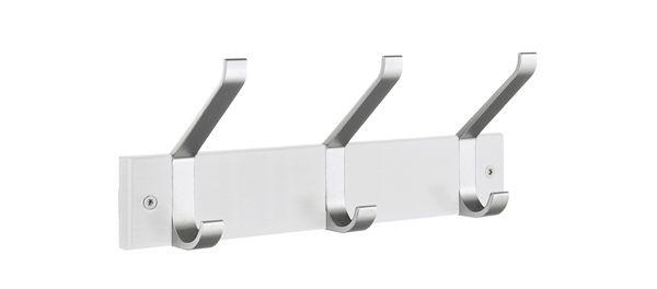 Smedbo Garderobenhaken Holz/Aluminium 3 Fach weiss BX1073
