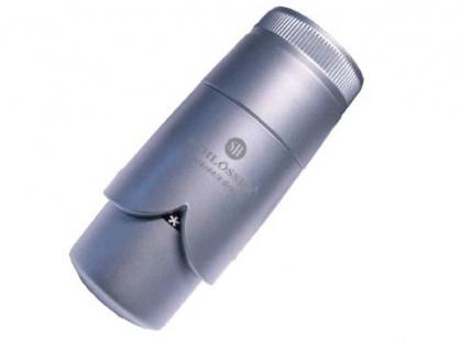 Schlösser Thermostatkopf Brilliant Schnappverschluß für Danfoss silbergrau satin 6005 00009