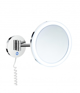 Smedbo Outline Kosmetikspiegel mit Dual LED-Beleuchtung PMMA rund FK486EP