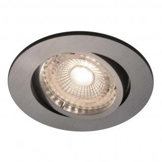 LED Einbaustrahler nickel Nordlux Octans 3er Set GU10 a 345lm 2700K