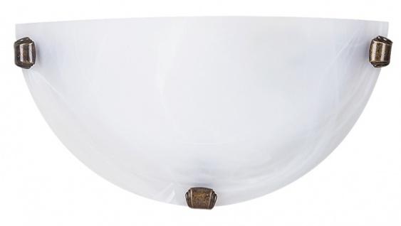 Rabalux Alabastro Wandleuchte 1x E27 Alabaster weiß, bronze