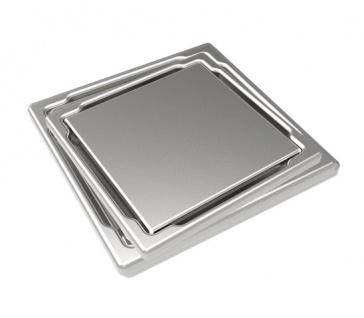 MERT Design Bodenablauf Flach mit Abdeckung 110 x 110 mm Edelstahl