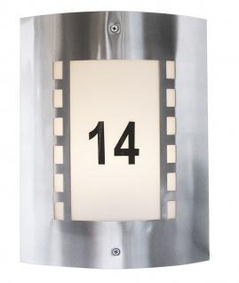Deko Light Hausnummern Set für Wall I Höhe 50mm Folien Aufkleber schwarz