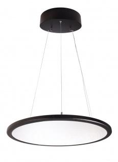 Deko Light LED Panel transparent rund Pendelleuchte schwarz 5600lm 4000K >80 Ra 150° Modern