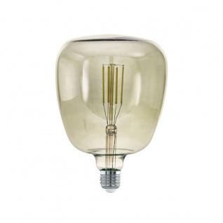 EGLO LED Leuchtmittel E27 T140 4W 380lm 3000K 340° schwarz-transparent dimmbar 140x200mm