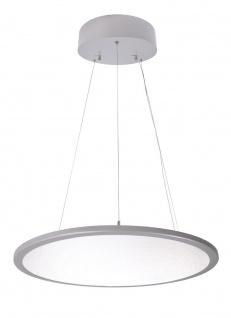 Deko Light LED Panel transparent rund Pendelleuchte silber 5600lm 4000K >80 Ra 150° Modern
